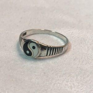 Yin and Yang silver ring